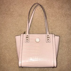 Anne Klein Pink Alligator Shoulder Purse